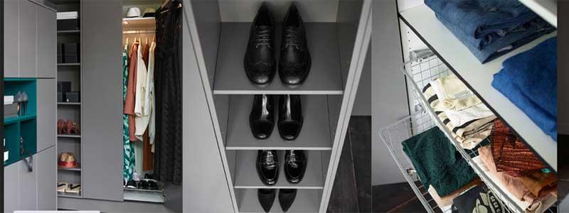 Förvaring av kläder och skor - walkin closet