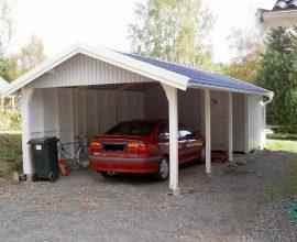 Eja Stugan Carport med förråd 25+10 m²