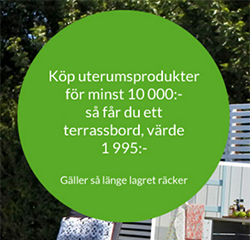 Kampanj på uterumsprodukter