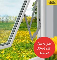 Skånska Byggvaror säljer ut fönster till 50% rabatt