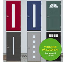 Kampanj på Ytterdörrar hos Skånska byggvaror i maj 2017