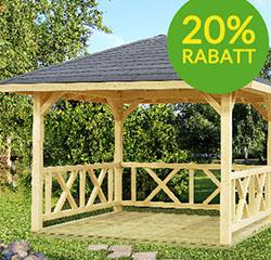 Skånska Byggvaror - 20 % rabatt på paviljong för trädgården